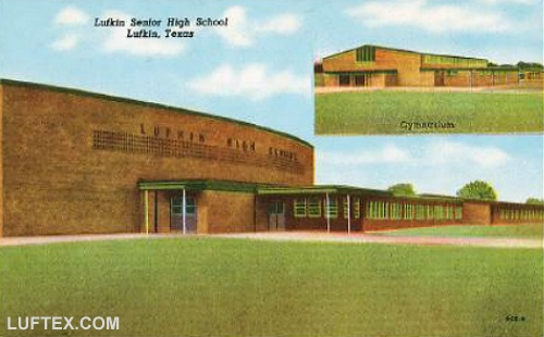 Lufkin High School 1955. High School was relocated to a new site and this is